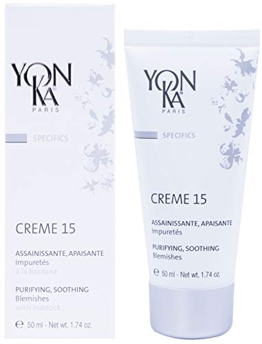 YON-KA SPECIFICS CREME 15 Assainissante & Apaisante, Clarifying Gel  - Purifying, Soothing Anti-Acne Cream For All Skin Types  (1.7 Ounce / 50 Milliliter)