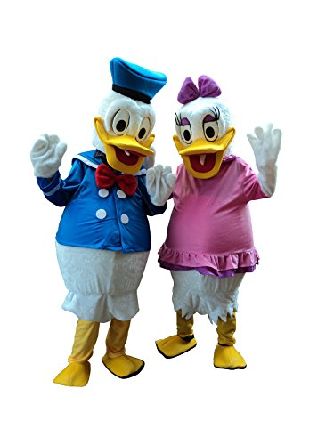 Donald Duck and Daisy Duck Adult Mascot Costume Cosplay Fancy Dress Suit (Donald Duck and Daisy -