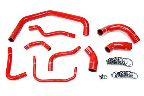 HPS Red Reinforced Silicone Radiator Hose Kit Coolant for 03-04 Ford Mustang SVT Cobra 4.6L V8 -