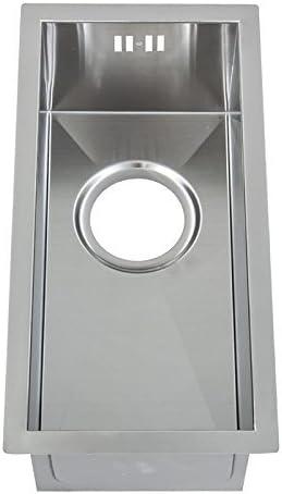 Fait /à la main cuve simple DS004 Petit /évier de cuisine inox sous plan 0.5 bac rayon z/éro