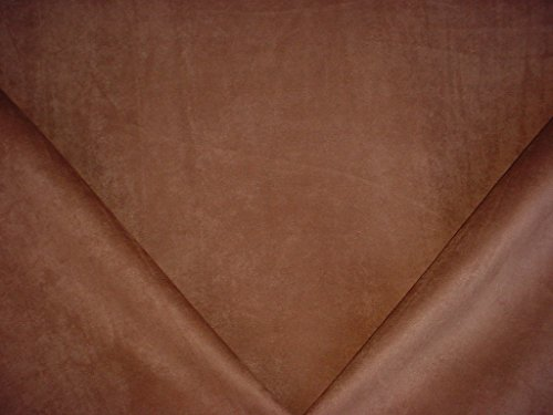 Advantage Fabrics Trusuede in Cinnamon - Brown Designer Faux Suede Leatherette Microfiber Upholstery Drapery Fabric - By the Yard