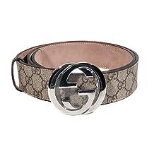 Gucci Taupe Logo Belt