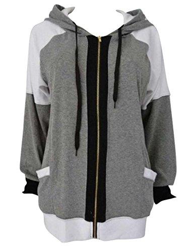 Shinekoo Femmes En vrac Sweat-shirt Zippé à Capuche