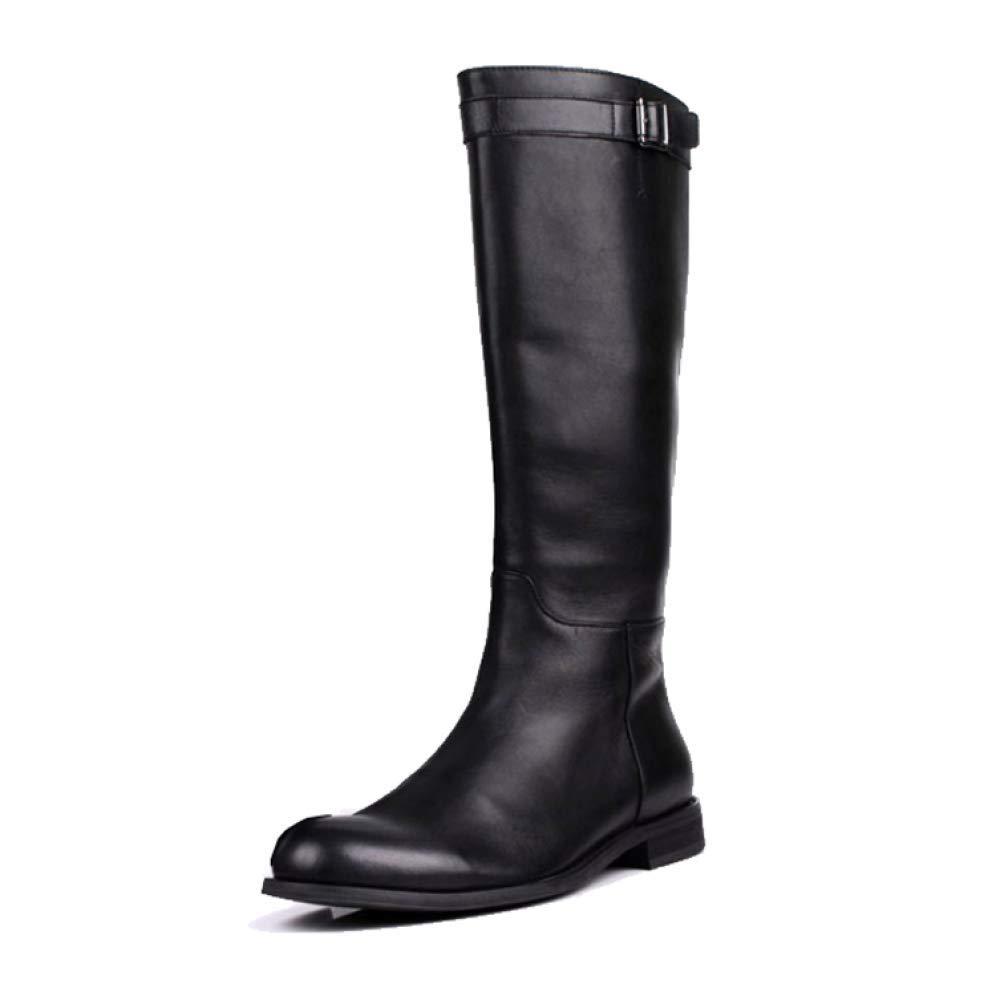 XYCSZQ Herrenstiefel British Wind Warm Simple Simple Komfortable Stiefel