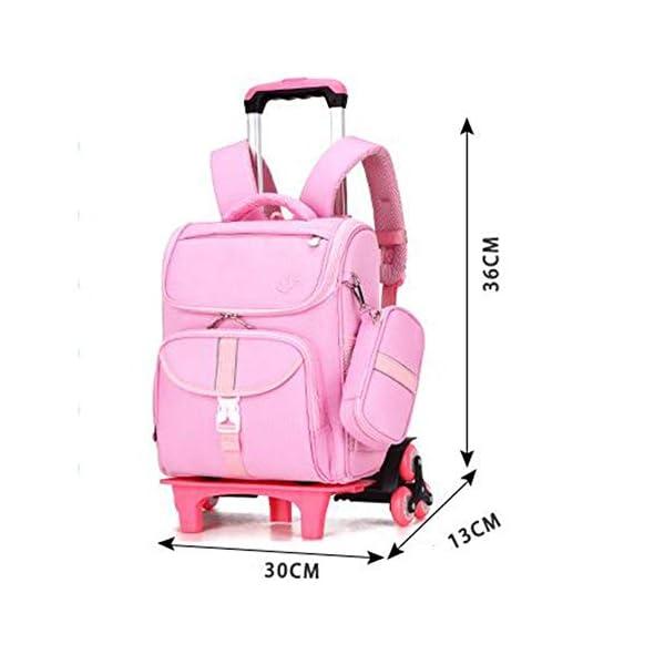 LUONE Bambini Zaino Trolley, Il Nuovo Carrello Schoolbag di Mezza età dei Bambini dello Zaino Estraibile Daypacks ad… 2 spesavip