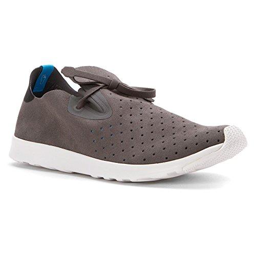 Native Shoes Unisex Apollo Moc Dublin Grey/Jiffy Black/Shell White Sneaker
