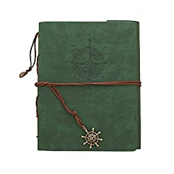 Zoview Adhesive Scrapbook Photo Album Memory Book , 60 Pages Hand Made Diy Albums ,Dark Green