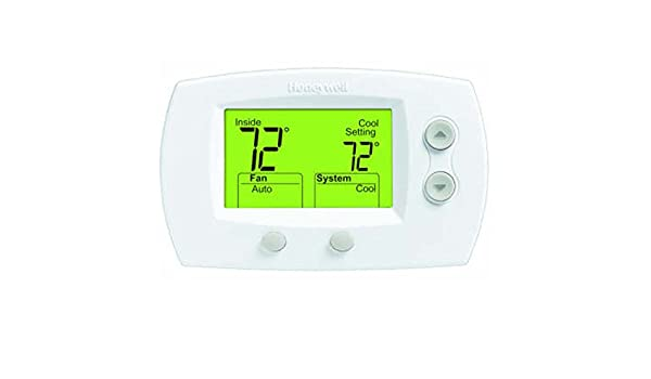 Amazon.com: Honeywell TH5320U1001 FocusPRO 5000 Non-Programmable Thermostat - Large Screen, HP/HC, 3H/2C, Auto C/O, Dual Powered by Honeywell: Home & ...