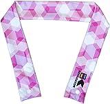 KOOLGATOR Cooling Neck Wrap - Pink Geometric Design