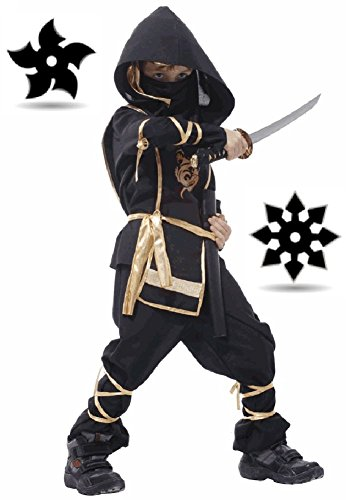 SPJ: Children Ninja Martial arts Costume 7-piece set / Japan Halloween Cosplay (Cheap Ninja Costumes)