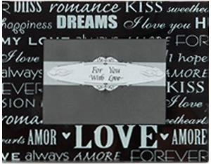 amazon com words of love glass frame favor 1