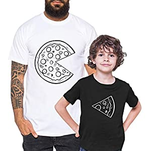 Tee Kiki Pizza – Camiseta de Pareja Padre Hijo niño bebé Body cumpleaños – Look de Pareja