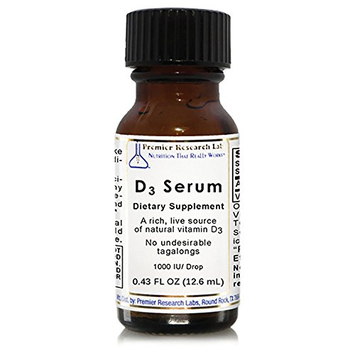 D3 Serum, 572 Servings - A Rich, Live Source of Natural Vitamin D3 for Targeted Immune and Cardiovascular (Premier Labs Liquid Vitamin D)