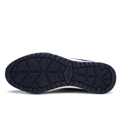 Yiruiya Hombres Botas Altas Impermeables De Piel Botas De Nieve Azul