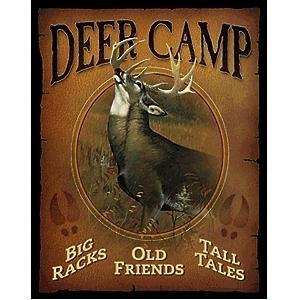 Wild Wings Deer Camp Tin Sign - Deer Camp Sign