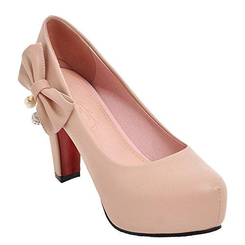 Ciondolo Tacco Alto Da Donna Elegante Scarpe Con Plateau E Tacco Alto Rosa