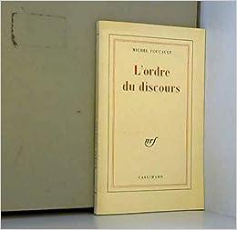 L Ordre Du Discours Amazon Fr Livres
