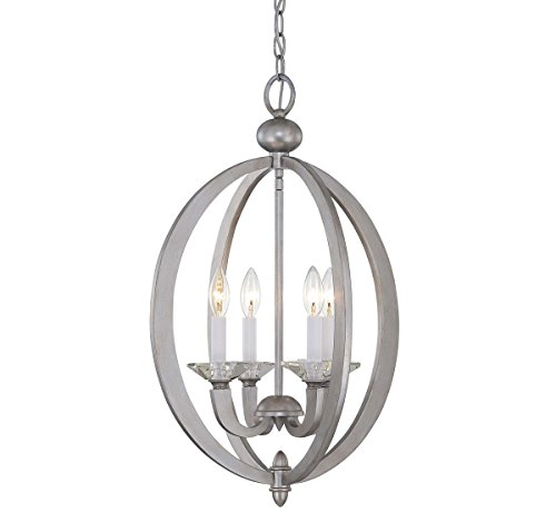 House Foyers Ceiling Pendant Savoy - Savoy House 3-1552-4-307 Forum 4-Light Foyer in Silver Sparkle