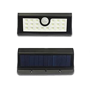 Hiyill new style20 LED Bright Solar Lights Outdoor Garden Motion Activated Solar Power Lights For Patio Fencing Waterproof Path Lighting