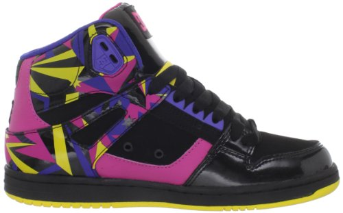 DC Shoes DC Shoes - Schuhe - REBOUND HI LE - D0303400-BZYD - black D0303400-BZYD - Zapatillas de deporte de cuero para mujer Negro (Schwarz (BZY-BKCPYW BZYD))