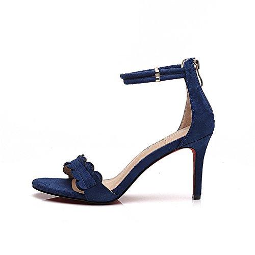 High Womens Sexy Ein Offenen Fashion Wölbungsgürtel Zehe Heels blue Profi Schuhe Fersen Spitzen 8cm Heels High Frauen Heels Bbdsj Sie wRnfTq66