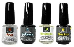 Red Carpet Manicure UV/LED Gel Nail Polish 4-Pack - Sanitizer/Top/Base/Nourish