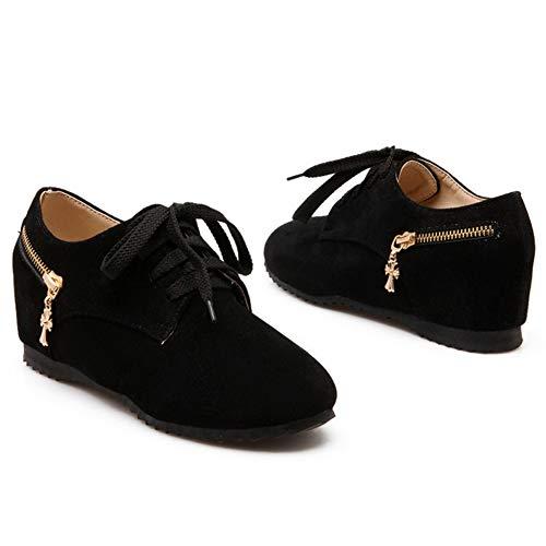 Bombas Interior RAZAMAZA Zapatos Moda Negro a Cu Mujer IzIqX