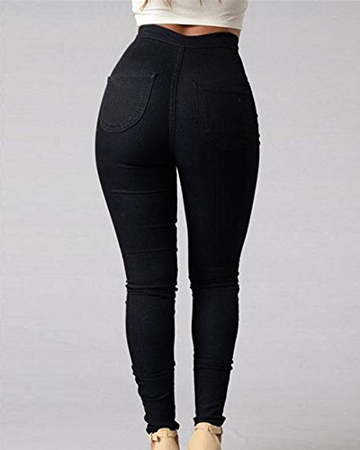 Elásticos Negro ZhuiKun Push Up Mujer Denim Vaqueros de Vaqueros Pantalones Jeans Pantalones vrqnTPZwv6