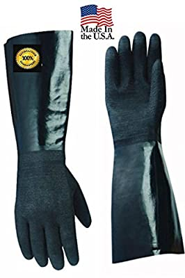 Artisan Griller AG3001S Insulated Heat Resistant Cooking Gloves Pair for BBQ, Grill and Kitchen, Black/Smooth Size 10/XL