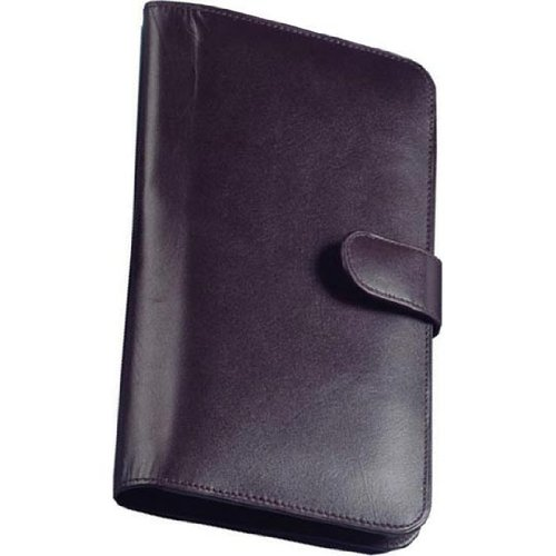 Cowhide Nappa Leather Passport Travel Organizer Color: Brown, Closure: Magnetic Snap (Brown Cowhide Nappa Leather)