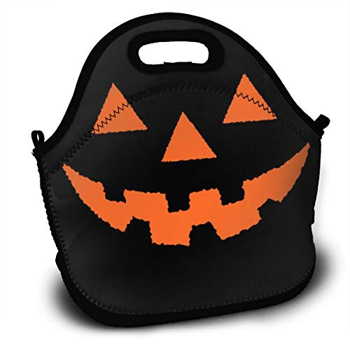 Halloween Pumpkin Lantern Smile Lunch Bag Portable Bento Bags Food Boxes Carry Case Tote Adults Kids Outdoor Multifunction Handbag Pouch For Picnic Travel School Office Trip Work]()