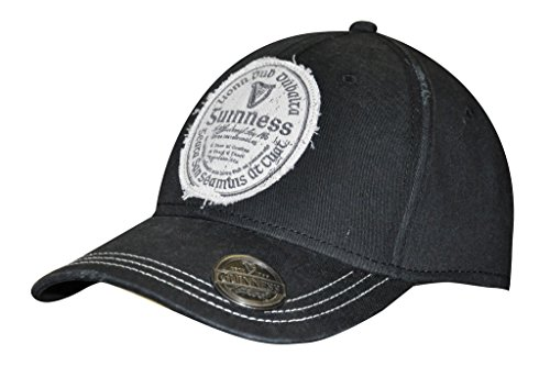 Guinness Baseball (Guinness Distressed Gaelic Irish Label Cap - Men's Bottle Opener Baseball Hat)