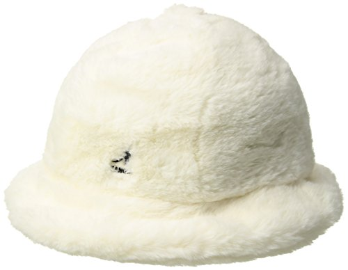 Kangol Men's Faux Fur Casual Cap, Cream, XL