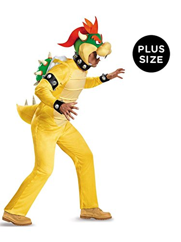 Disguise Men's Bowser Deluxe Adult Costume, Multi, XX-Large]()