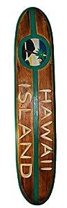 Surfboard Hawaii Island 100cm Dekoration zum Aufhängen Surfbrett