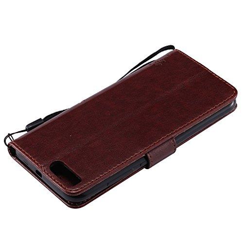 Xiaomi 5X Flip Cuero Funda - Alta Calidad Cuero de la PU /Stent/Billetera/Paquete de Tarjetas/Proteccion Caso Cubrir para Xiaomi 5X(Rosa) Marrón