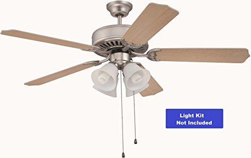52' Builder Fan Collection - Craftmade K10262 Ceiling Fan Motor with Blades Included, 52