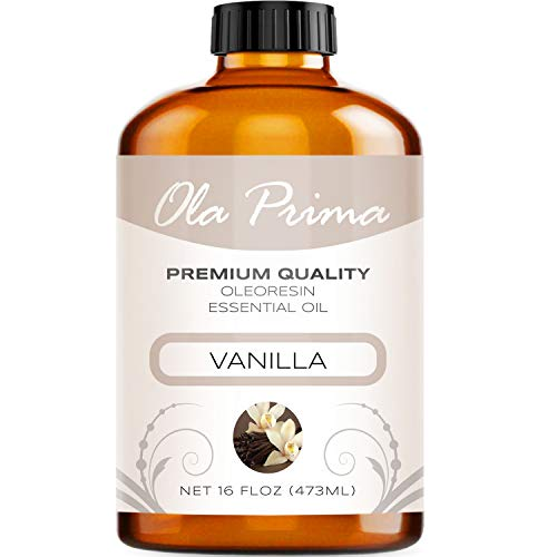 16oz - Premium Quality Vanilla Essential Oil (16 Ounce with Dropper) Therapeutic Grade Vanilla Oil