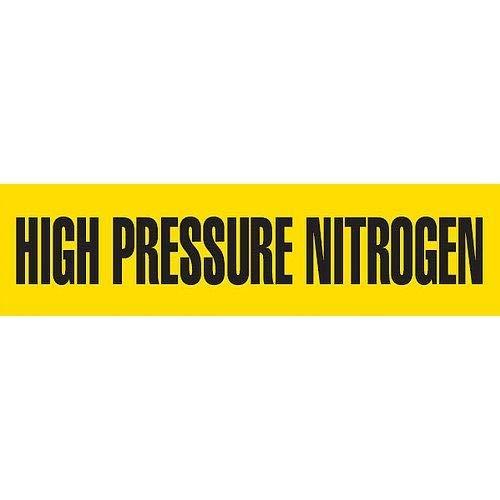 GHS Safety PM1162RD,''High Pressure Nitrogen'' Sheet Pipe Marker, Pack of 20 pcs