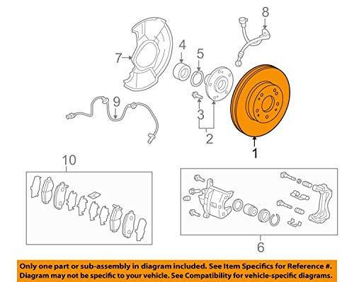 OEM Acura 45251-SNA-010 - Disk,Fr Brake (14