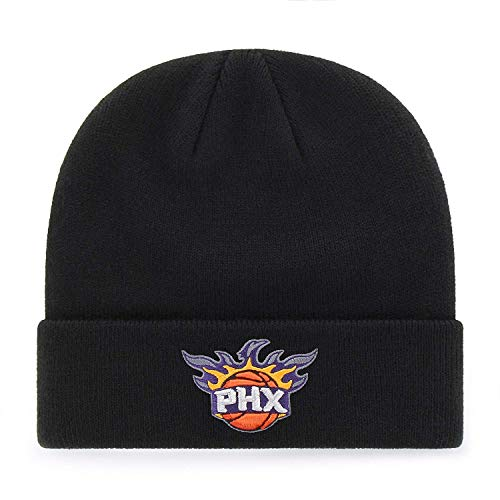 adidas Phoenix Suns Black Cuffed Beanie Hat - NBA Cuffed Knit Toque Cap ()