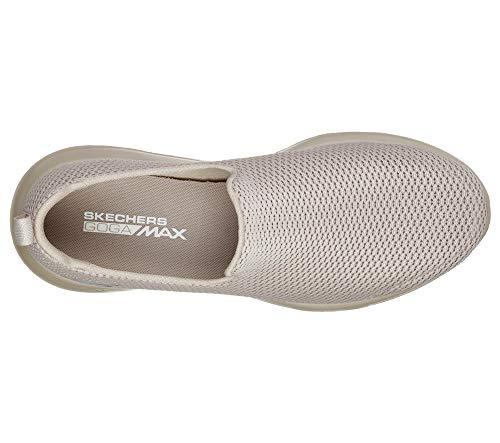 Skechers Men's Go Max-Athletic Air Mesh Slip On Walking Shoe, Taupe, 9
