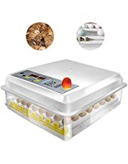 Hatching Egg Incubator 16&64 Eggs Digital Mini Automatic Incubators with Turner for Hatching Turkey Goose Quail Chicken Eggs,Built-In Egg Candler Tester,Small Egg Hatcher Machine by Safego