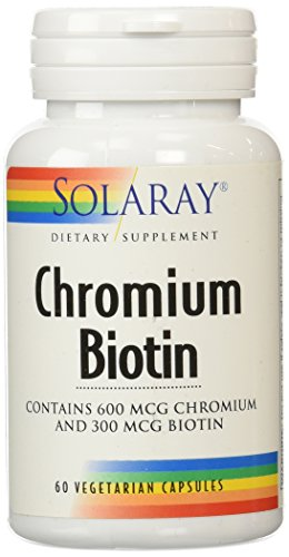 Solaray Chromium Biotin Capsules, 60 Count