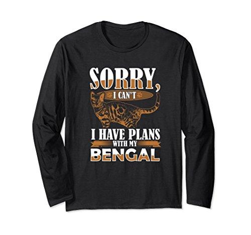 Unisex Sorry have Plans Bengal Long Sleeve Shirt Womens Mens Medium Black