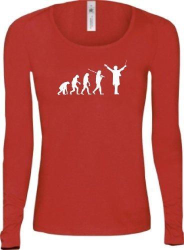 Shirtstown - Camiseta - Manga Larga - Mujer Rojo