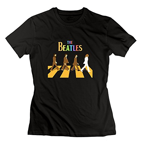 Seico Women's The Beatles Rock Band Tshirts Black Size L