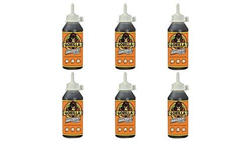 Gorilla 5002801-6 Original Glue (6 Pack), 8 oz, Brown