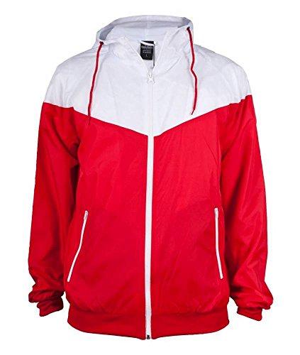 Urban Classics Arrow Windrunner, red/white, Größe S