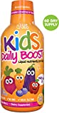 Children's Liquid Multivitamin by Feel Great 365 (60 Day Supply) | Daily Value of 14 Vitamins | Natural Kids Supplement ● Non-GMO, Sugar-Free, Gluten Free, Methyl B-12 Vitamin D3, Great Fruity Taste